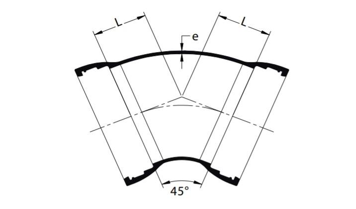 COUDE à 45° (1/8)