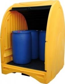 BRP4FEXT485 - Abri de stockage pour 4 fûts - 485 L