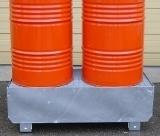 BRAG 2FC - Bac de rétention et caillebotis acier stockage 2 fûts rétention 220 litres