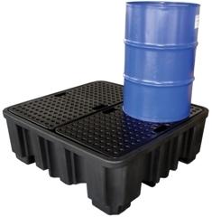 BRPN 4F - Bac de rétention avec caillebotis - stockage de 4 fûts