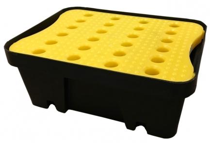 BRP10L - bac de rétention avec caillebotis - 10 litres