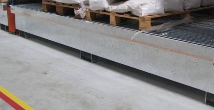 BRAG RY2680-1270 - Bac de rétention pour rayonnage - 1420 litres