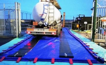 Aire de lavage pour décontamination véhicules et matériels de chantier - BRSO 25000AUTO